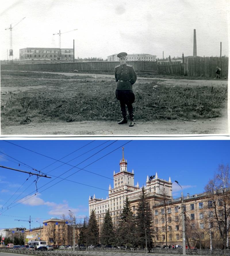 Верхняя фотография из семейного архива Германа Старикова, начало 1950-х гг. Нижняя – 2011 год.
